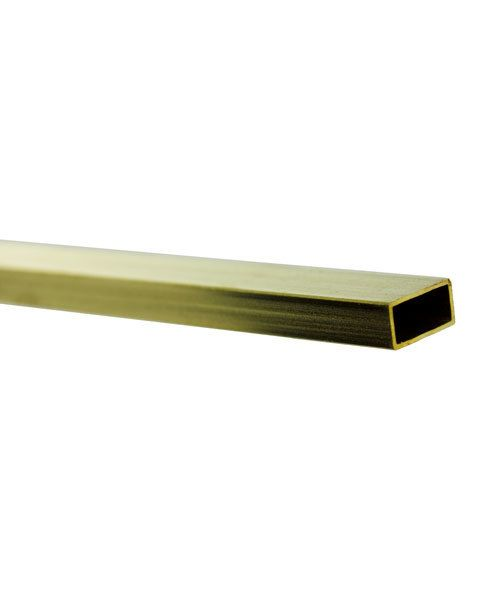BFT03 = RECTANGULAR TUBE BRASS .014'' WALL 5/32'' x 5/16'' OD