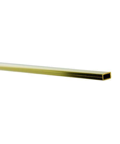 BFT01 = RECTANGULAR TUBE BRASS .014'' WALL  3/32'' x 3/16'' OD