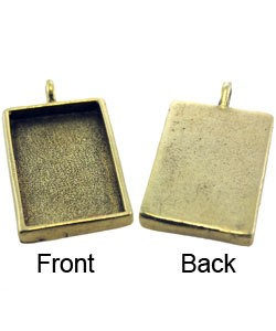 3000GP-20 = Rectangle Pendant 3/4''x1-1/4'' Gold Plated with Bail