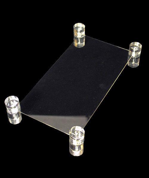 DIS9105 = ACRYLIC PLATFORM 9-3/4x5x2''H x 1/8'' THICK