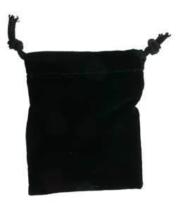 DBX2202 = POUCHES - VELVET POUCH 2-3/4''x3'' BLACK (DOZEN)