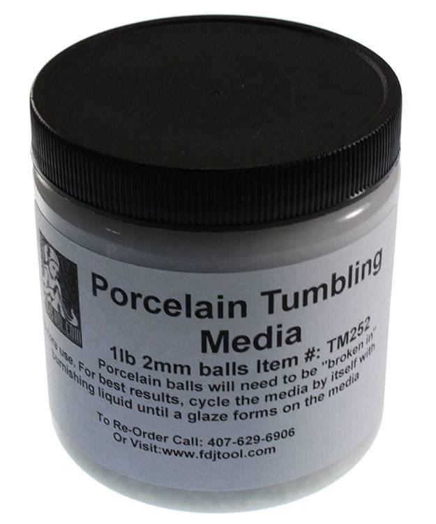 TM252 = Porcelain Balls Tumbling Media 2mm - 1lb Container