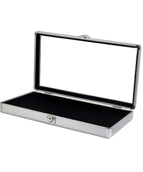 DTR8401 = ALUMINUM CASE with GLASS COVER 14-7/8 x 8-3/8 x 2-7/8''H