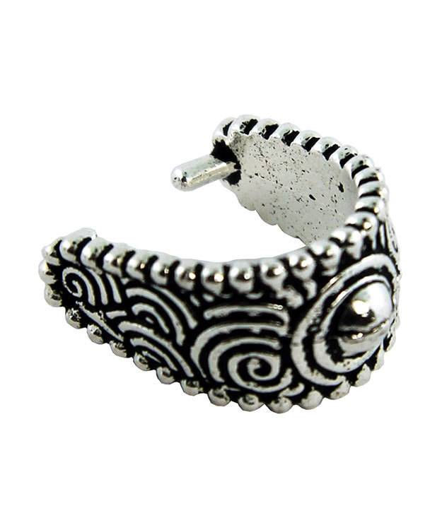 910AS-02 = Antique Silver Plated Large Spiral Pinch Bail  (Pkg of 5)