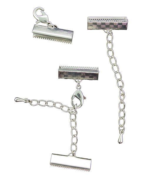 503SP-21 = ARTISTIC WIRE 18mm MESH CLASP & 50mm (2'') EXTENDER  SILVER COLOR