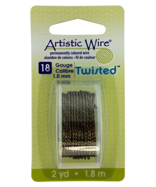WR42918 = ARTISTIC WIRE DISPENSER PACK TWIST Antique Brass 18ga 2 yards