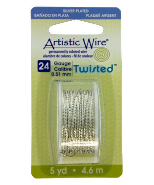 WR46024 = ARTISTIC WIRE DISPENSER PACK TWIST TR SILVER 24ga 5 yards