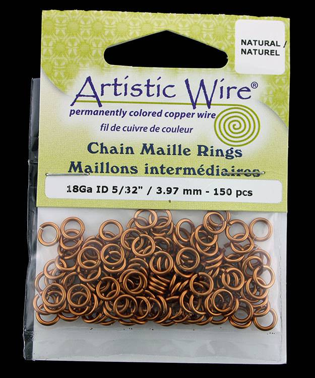900AWN-05 = Artistic Wire Natural Copper Jump Ring 4.0mm ID (5/32'') 18ga