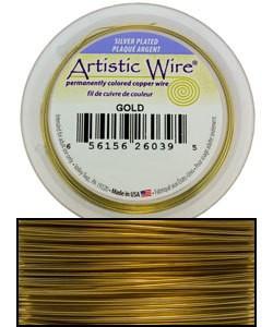 WR35318 = Artistic Wire Spool SP GOLD 18ga 20 FEET