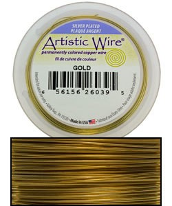 WR35324 = Artistic Wire Spool SP GOLD 24ga 15 YARDS