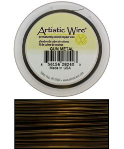 WR32928 = Artistic Wire Retail Spool Antique Brass 28GA 40 YARDS