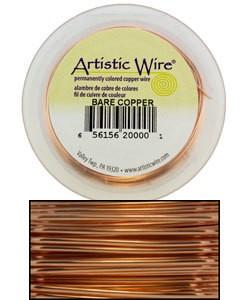 WR33524 = Artistic Wire Spool BARE COPPER 24GA 20 YARDS
