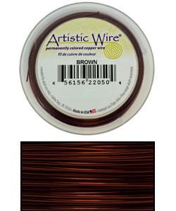 WR30518 = Artistic Wire Spool BROWN 18GA 10 YARDS