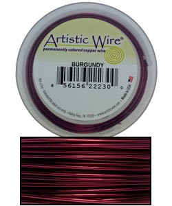 WR32822 = Artistic Wire Spool BURGUNDY 22GA 15 YARDS