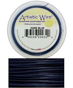 WR30318 = Artistic Wire Spool DARK BLUE 18GA 10 YARDS
