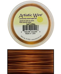 WR31420 = ARTISTIC WIRE RETAIL SPOOL NATURAL 20GA 15 YARDS