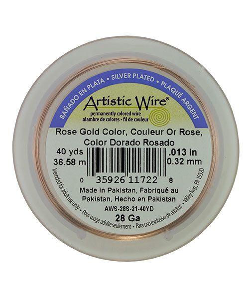 WR32128 = Artistic Wire Spool ROSE GOLD 28ga 40 yards