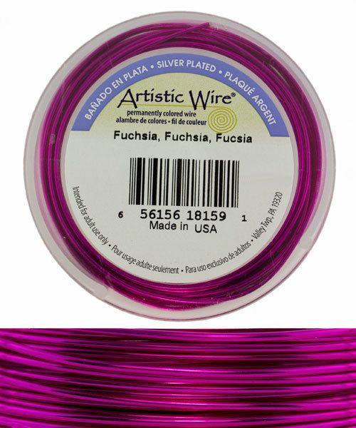 WR36520 = Artistic Wire Spool SP Fuchsia 20ga 25 feet
