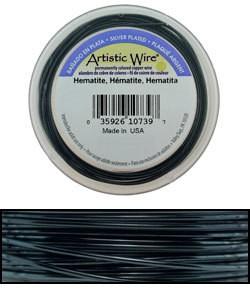 WR36926 = Artistic Wire Spool SP HEMATITE 26ga 30 YARDS