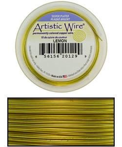 WR36224 = Artistic Wire Spool SP LEMON 24ga 15 YARDS