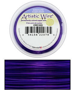 WR35722 = ARTISTIC WIRE RETAIL SPOOL SP ORCHID 22GA 10 YARDS