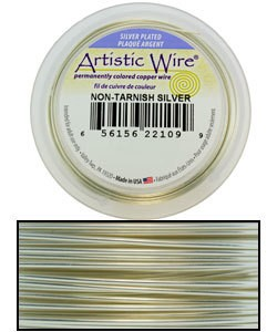 WR36028 = Artistic Wire Spool SP TARNISH RESISTANT SILVER 28ga 40 YARDS