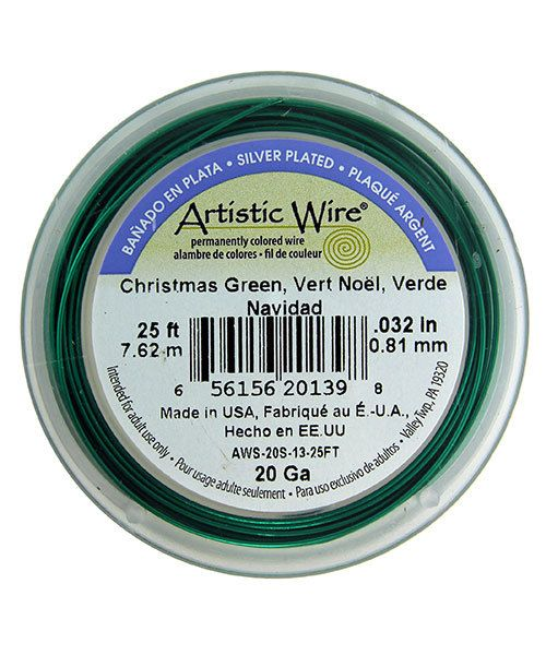WR36320 = Artistic Wire Spool SP XMAS GREEN 20ga 25 FEET