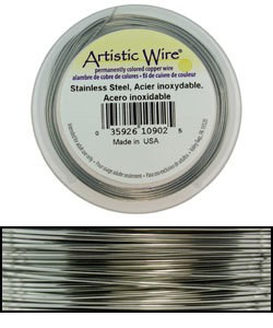 WR33820 = Artistic Wire Retail Spool Stainless Steel 20ga (15 yds)