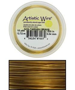 WR33624 = Artistic Wire Spool TARNISH RESISTANT BRASS 24GA  20YARDS