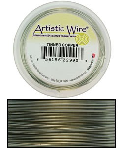 WR33726 = ARTISTIC WIRE RETAIL SPOOL TINNED COPPER 26GA 30 YARDS