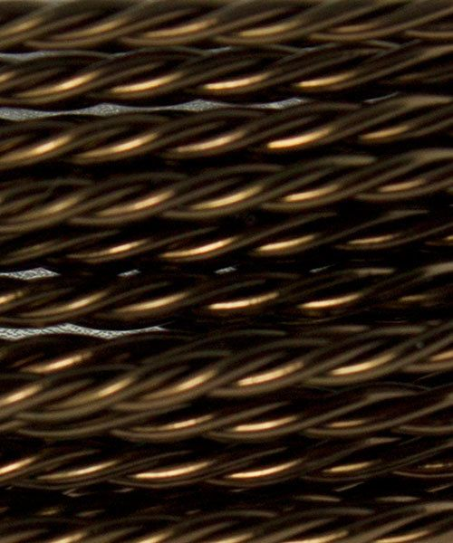 WR52918 = ARTISTIC WIRE RETAIL SPOOL TWIST Antique Brass 18ga 5 yards