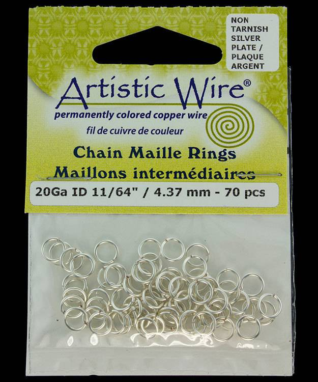 900AWS-16 = Artistic Wire Tarnish Resistant Silver Color Jump Ring 4.3mm ID (11/64'') 20ga
