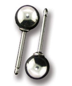 917S-05 = Ball Earring Sterling Silver 5mm No Backs (Pkg of 10)