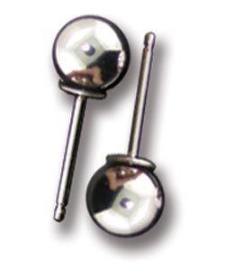 917S-06 = Ball Earring Sterling Silver 6mm No Backs (Pkg of 6)