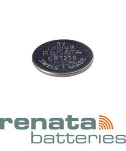 BA1216 = Battery - Renata 3v Lithium - #1216 (Pkg of 10)