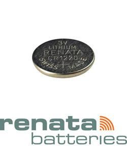 BA1220 = Battery - Renata 3v Lithium - #1220 (Pkg of 10)