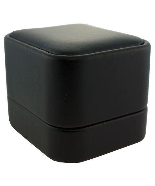 DBX5841 = Black Leatherette Round Corner Earring Box (EACH)