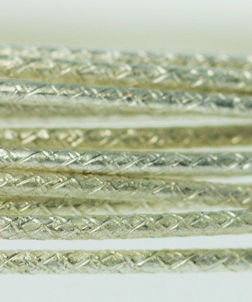 WR5220S = Beadalon German Style Wire 20ga FLECK PATTERN SILVER PLATED 2 METER COIL