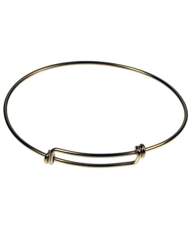 980BR-50 = Brass Adjustable Wire Bangle 8-9.5''  14ga Wire