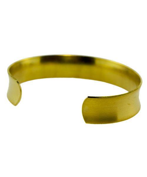 MSBR1022 = Brass Bracelet Cuff Concave 1/2'' Wide