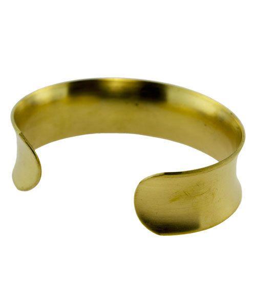 MSBR1023 = Brass Bracelet Cuff Concave 3/4'' Wide