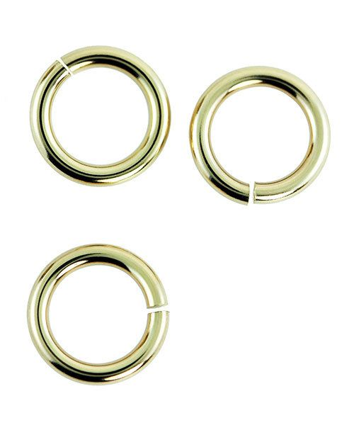 900BR-8050 = Brass Jump Ring 16ga .050 x .315'' (1.27 x 8.0mm) (Pkg of 50)