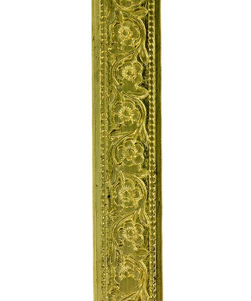 BPW106 = Brass Pattern Wire - FLOWER CHAIN 0.51 x 7.94mm - 1 foot piece
