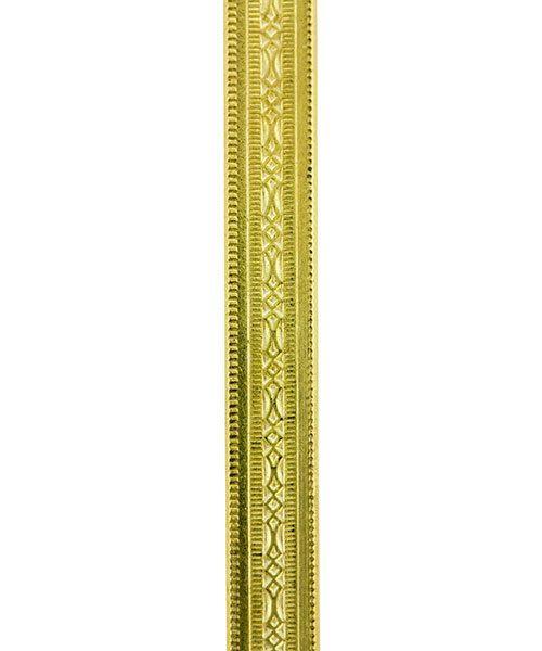 BPW101 = Brass Pattern Wire - MINI BEADED 1.02 x 5.08mm - 1 foot piece