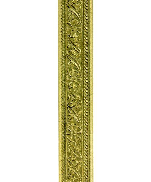 BPW102 = Brass Pattern Wire - MINI FLORAL 1.40 x 5.18mm - 1 foot piece