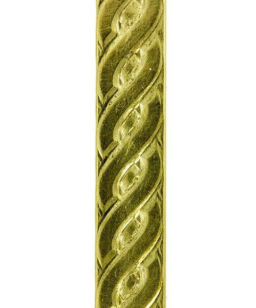 BPW104 = Brass Pattern Wire - ROPE 0.82 x 6.35mm - 1 foot piece