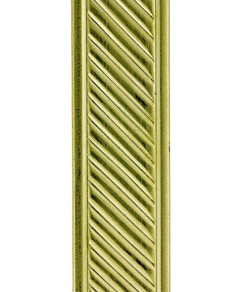 BPW107 = Brass Pattern Wire - SLANT with BORDER 1.27 x 11.12mm - 1 foot piece