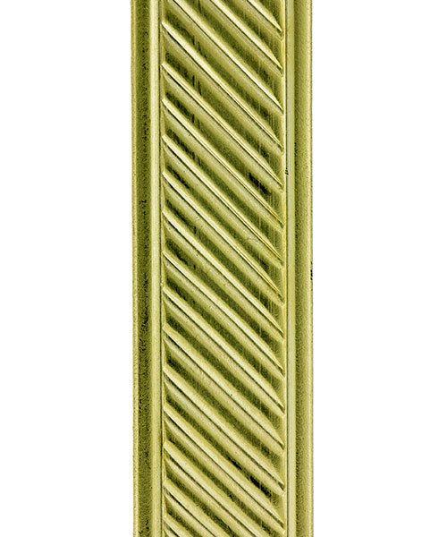 BPW307 = Brass Pattern Wire - SLANT with BORDER 1.27 x 11.12mm - 3 foot piece