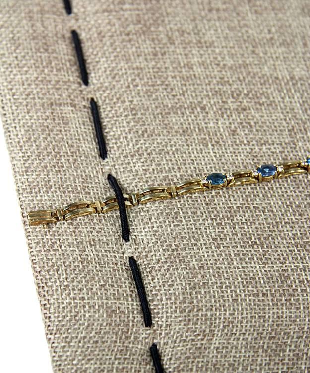 DBR3640 = Burlap  Bracelet/Watch Tray Insert 14-1/8'' x 7-1/2'' wide