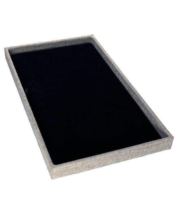 DTR3000 = Burlap Covered Display Trays 14-7/8 x 8-3/8 x 1'' deep